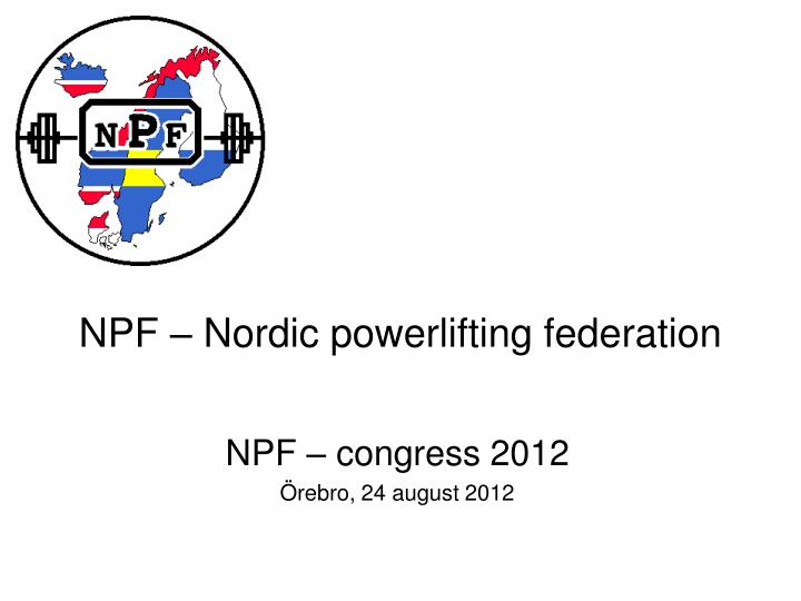 Npf nordic powerlifting federation