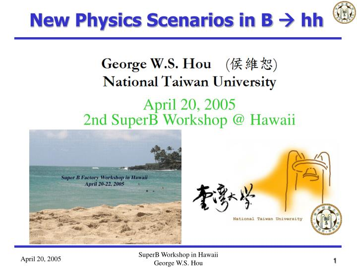 New Physics Scenarios in B