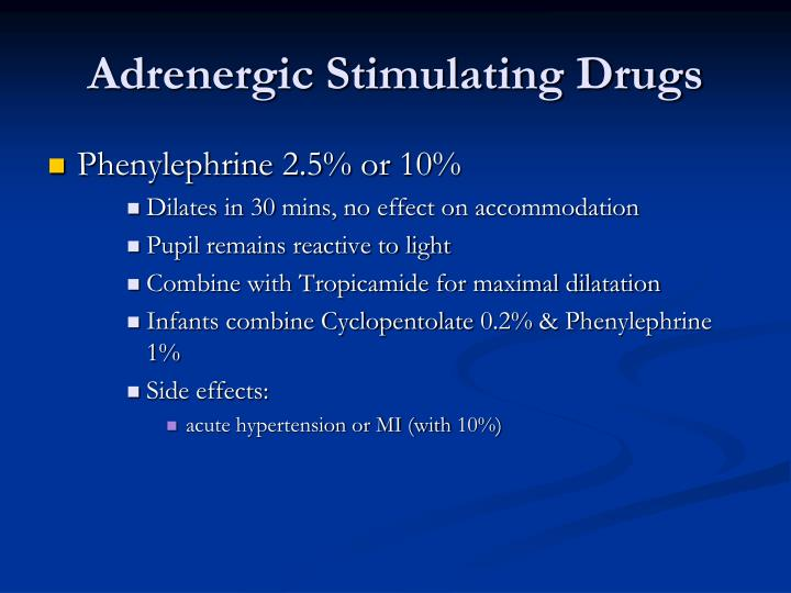 Adrenergic Stimulating Drugs