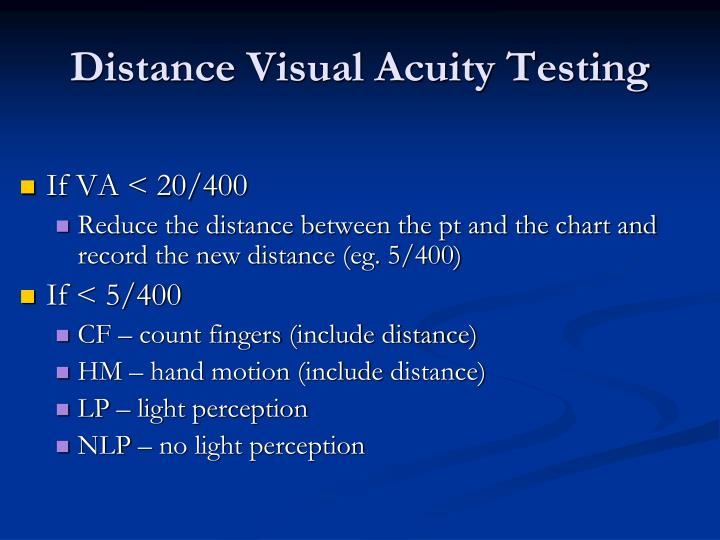 Distance Visual Acuity Testing