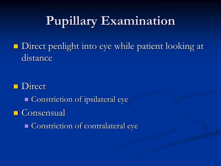 Pupillary