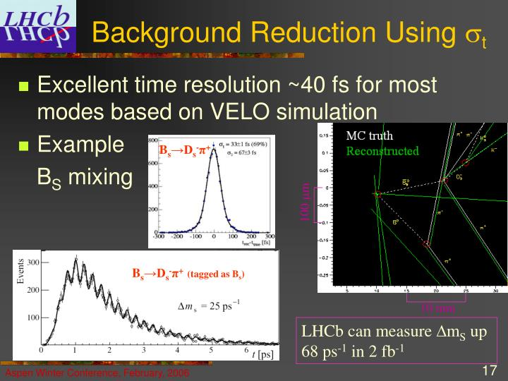 Background Reduction Using