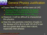 general physics justification