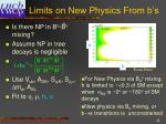 limits on new physics from b s