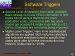 software triggers