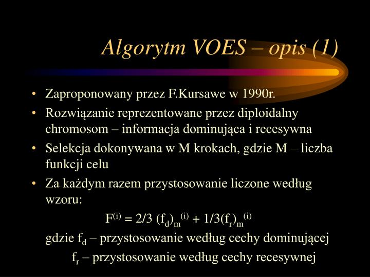 Algorytm VOES – opis (1)