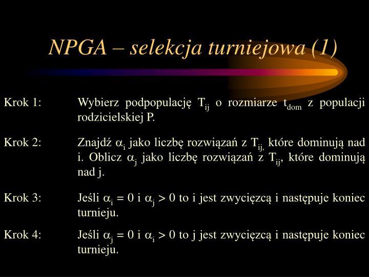 NPGA – selekcja turniejowa (1)