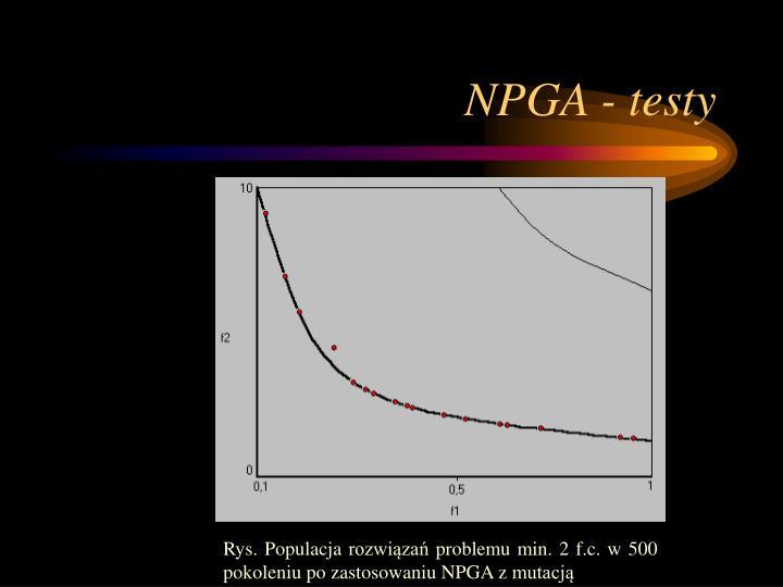 NPGA - testy