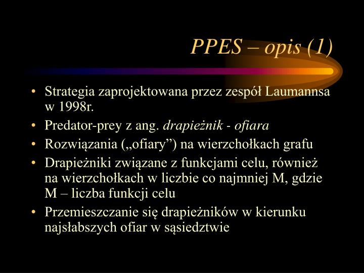 PPES – opis (1)