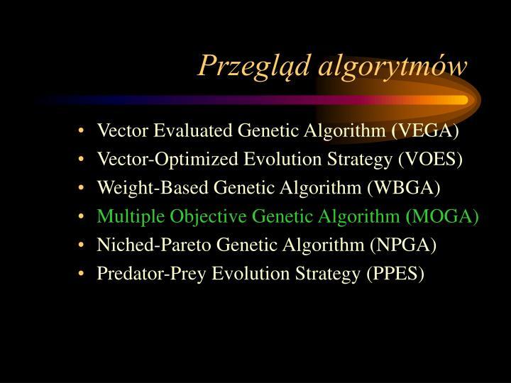 Przegląd algorytmów