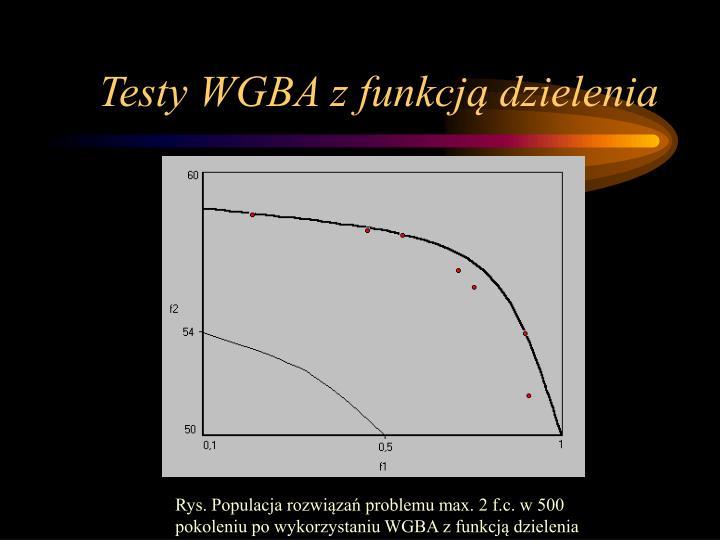 Testy WGBA z funkcją dzielenia