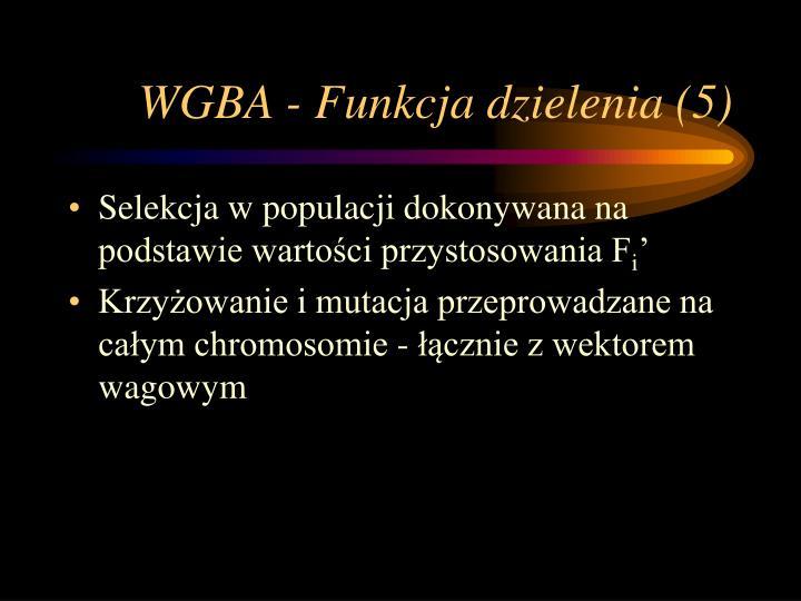 WGBA - Funkcja dzielenia (5)
