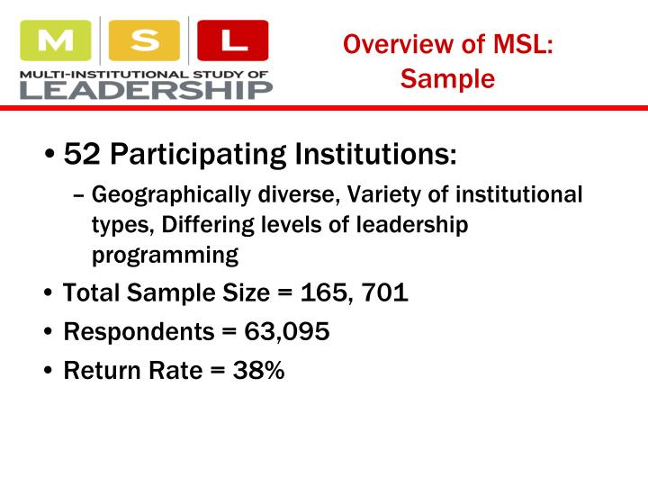 Overview of MSL: