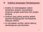 b institusi kewangan pembangunan