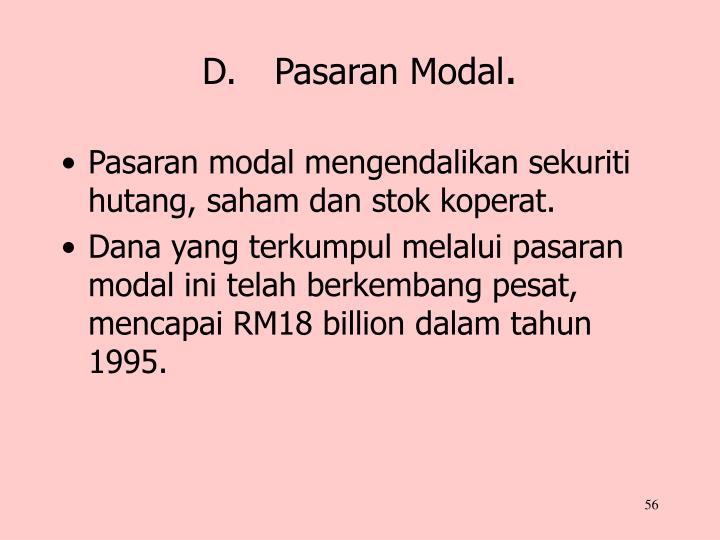 D.Pasaran Modal