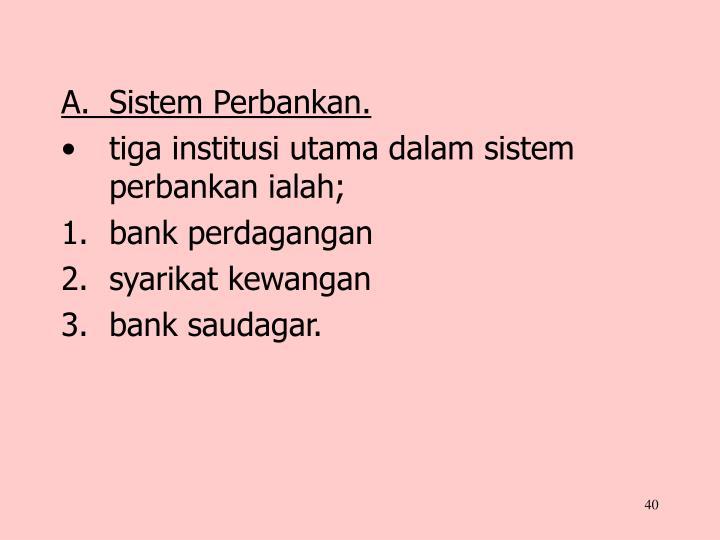 A.Sistem Perbankan.