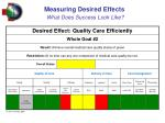 measuring desired effects what does success look like1