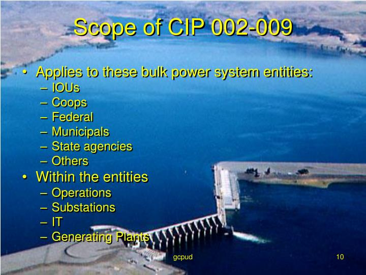 Applies to these bulk power system entities: