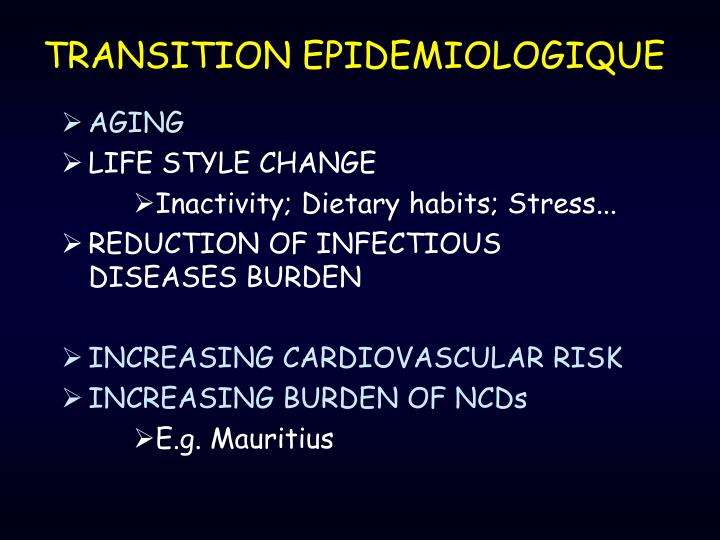 TRANSITION EPIDEMIOLOGIQUE