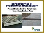 stormwater management opportunities