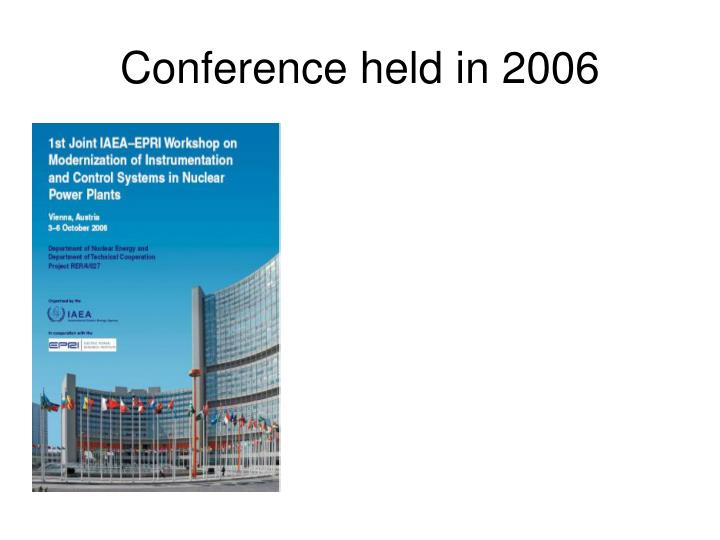 Conference held in 2006