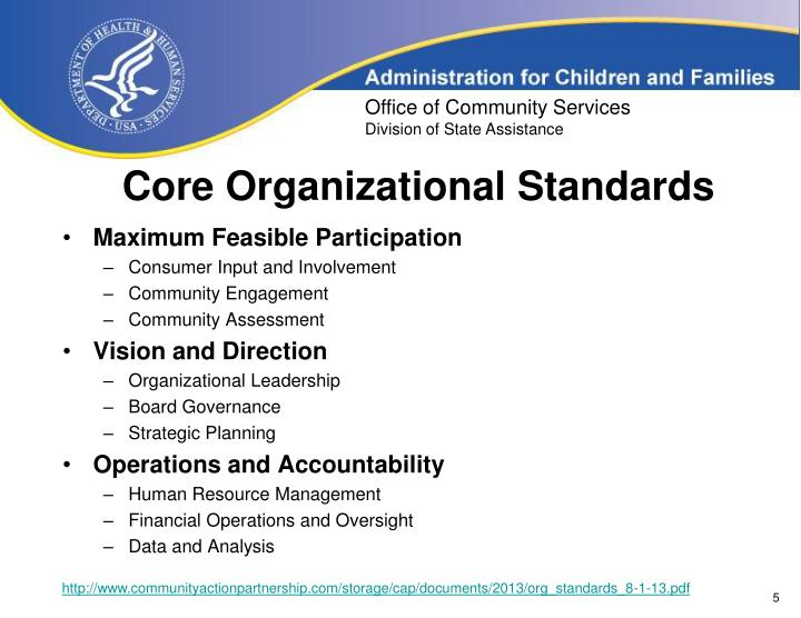 Core Organizational Standards