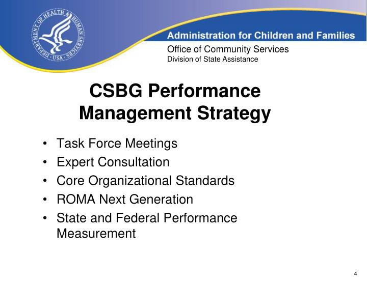 CSBG Performance Management Strategy