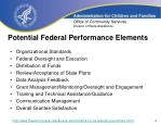 potential federal performance elements