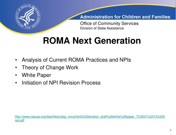 ROMA Next Generation