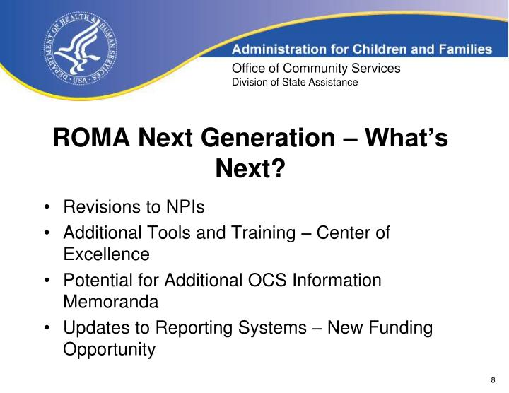 ROMA Next Generation – What's Next?