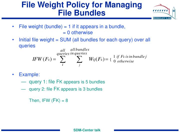 File Weight Policy for Managing