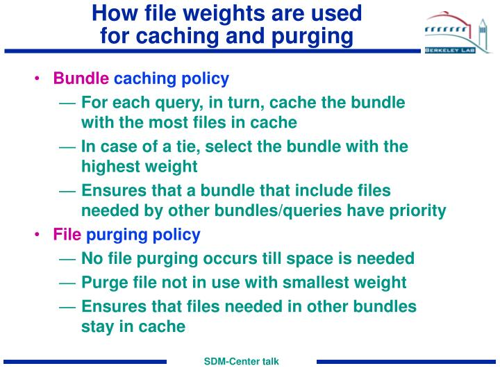 How file weights are used