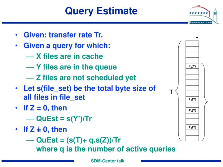 Query Estimate