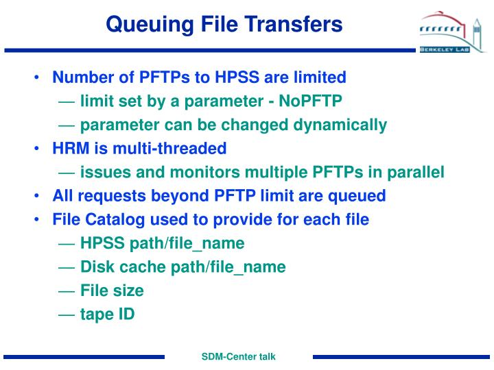 Queuing File Transfers