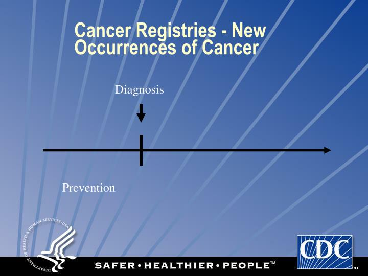 Cancer Registries - New Occurrences of Cancer