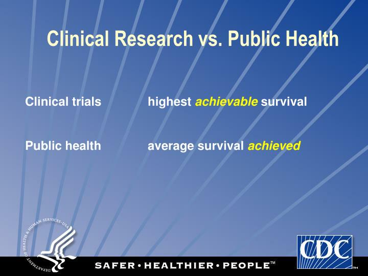 Clinical Research vs. Public Health