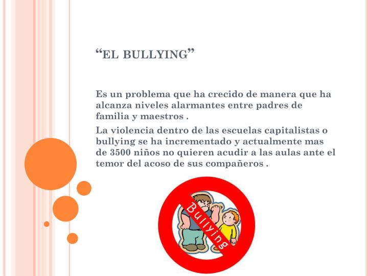 """el bullying"""