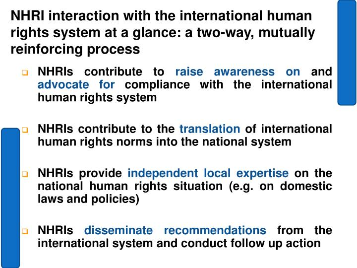 NHRIs contribute to