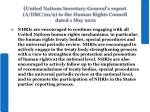 united nations secretary general s report a hrc 20 9 to the human rights council dated 1 may 2012