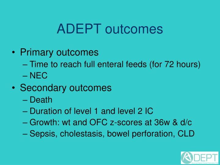 ADEPT outcomes