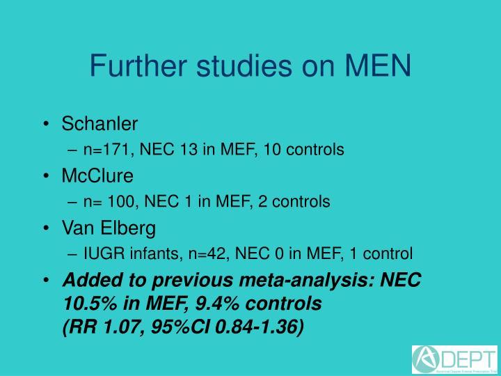Further studies on MEN