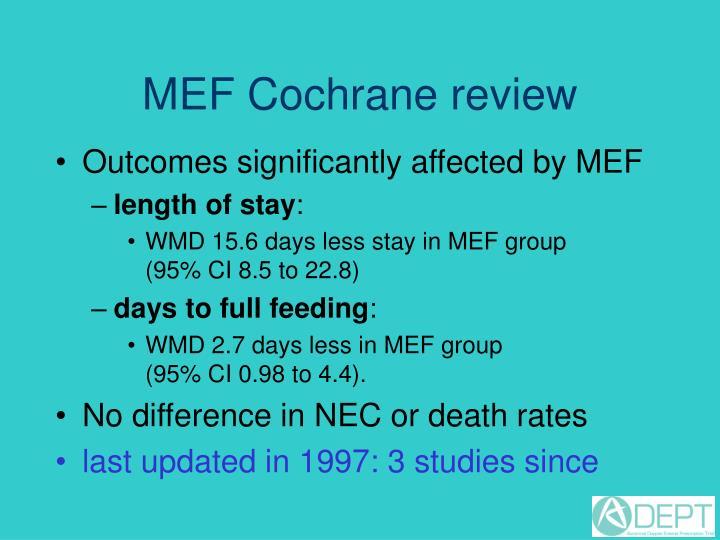 MEF Cochrane review