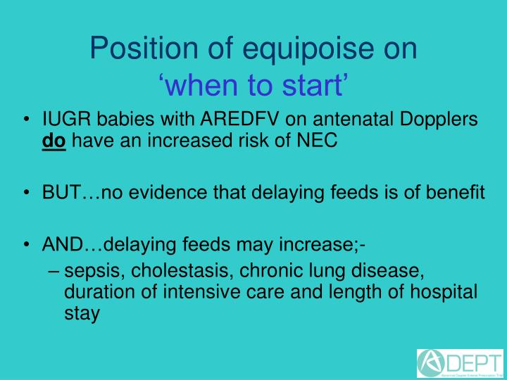 Position of equipoise on