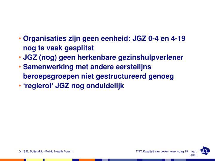 Organisaties zijn geen eenheid: JGZ 0-4 en 4-19 nog te vaak gesplitst