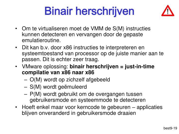 Binair herschrijven