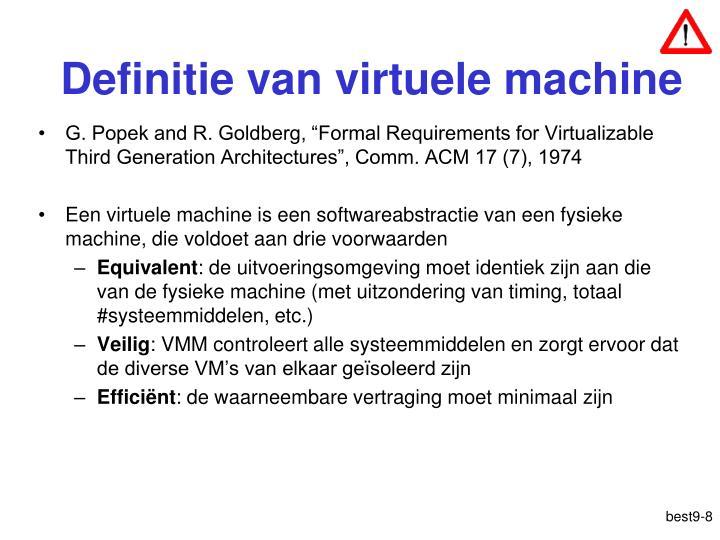 Definitie van virtuele machine