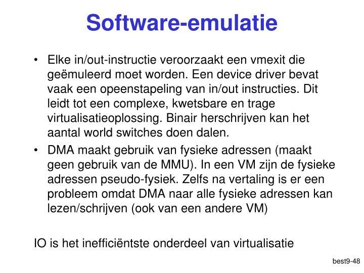 Software-emulatie