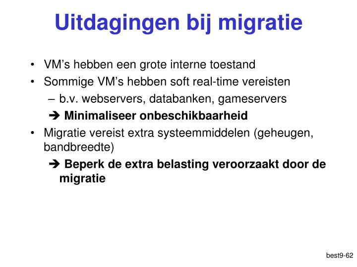 Uitdagingen bij migratie