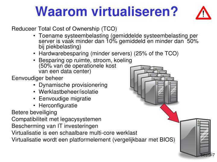 Waarom virtualiseren?