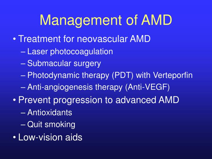 Management of AMD